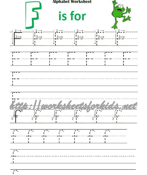 letter f : Worksheets For Kids